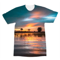 Sunset In The River Sublimation T-Shirt Xs Apparel