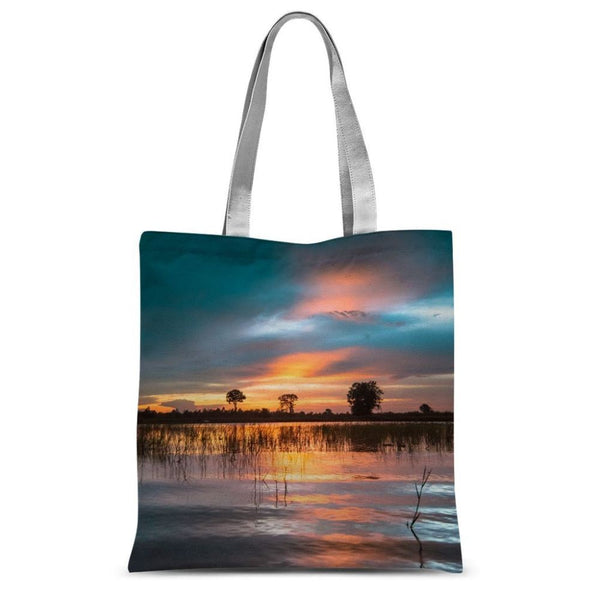 Sunset In The River Sublimation Tote Bag 15X16.5 Accessories