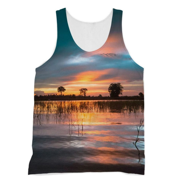 Sunset In The River Sublimation Vest Xs Apparel