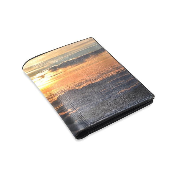 Sunset Over The Clouds Mens Leather Wallet (1612)