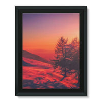 Sunset View On Mountain Framed Canvas 12X16 Wall Decor