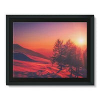 Sunset View On Mountain Framed Canvas 16X12 Wall Decor