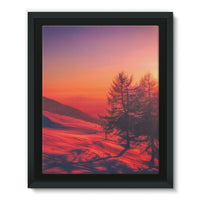 Sunset View On Mountain Framed Eco-Canvas 11X14 Wall Decor
