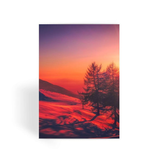 Sunset View On Mountain Greeting Card 1 Prints