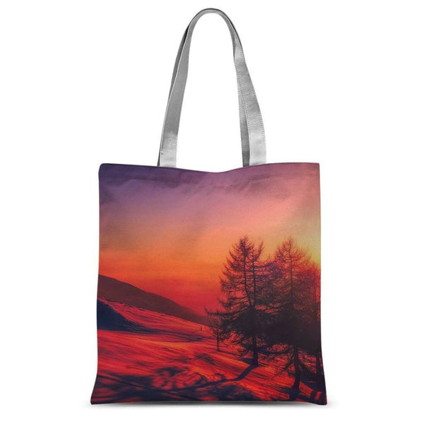 Sunset View On Mountain Sublimation Tote Bag 15X16.5 Accessories