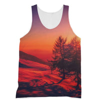 Sunset View On Mountain Sublimation Vest Xs Apparel