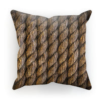Tight Round Rope Pattern Cushion Faux Suede / 12X12 Homeware