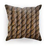 Tight Round Rope Pattern Cushion Faux Suede / 18X18 Homeware
