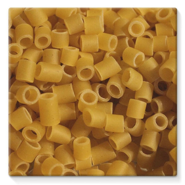 Tiny Pasta Pattern Stretched Canvas 10X10 Wall Decor