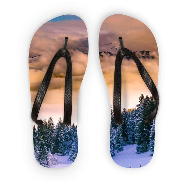 22ec1ccdfd8ea Trees Covered With Mountain Flip Flops S Accessories
