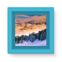 Trees Covered With Mountain Magnet Frame Light Blue Homeware