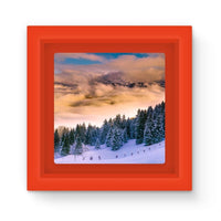 Trees Covered With Mountain Magnet Frame Red Homeware