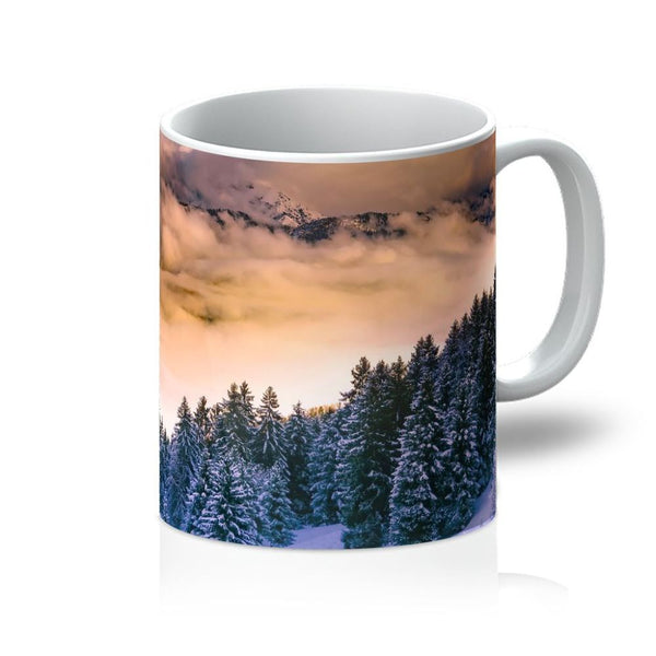 Trees Covered With Mountain Mug 11Oz Homeware