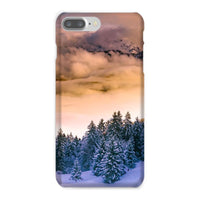 Trees Covered With Mountain Phone Case Iphone 8 Plus / Snap Gloss & Tablet Cases