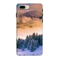 Trees Covered With Mountain Phone Case Iphone 8 Plus / Tough Gloss & Tablet Cases