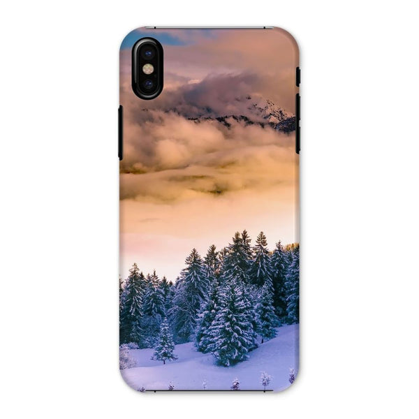 Trees Covered With Mountain Phone Case Iphone X / Snap Gloss & Tablet Cases