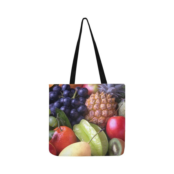 Tropical Fruits Reusable Tote Shopping Bag (Two Sides) (1660)