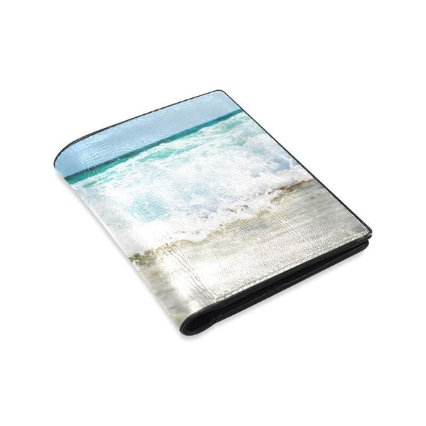 Tropical Summer Beach Mens Leather Wallet (1612)
