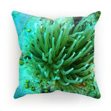 Underwater Coral Reef Cushion Faux Suede / 12X12 Homeware