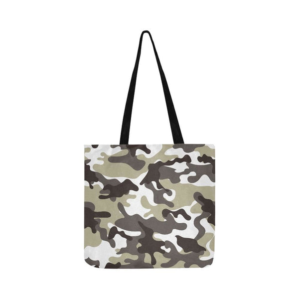 Urban Street Style Camo Camouflage Army Pattern Reusable Tote Shopping Bag (Two Sides) (1660)