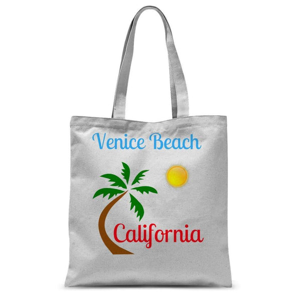 Venice Beach California Sublimation Tote Bag 15X16.5 Accessories