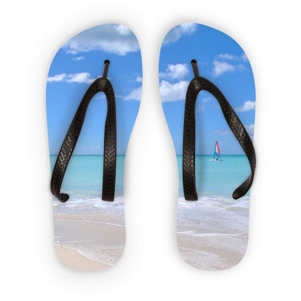 View Of The Sea From Beach Flip Flops S Accessories
