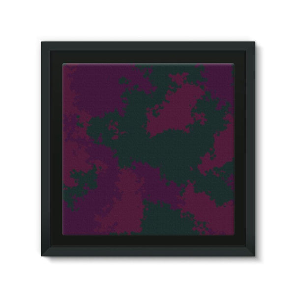 Violet Camo Pattern Framed Canvas 12X12 Wall Decor