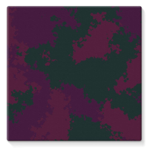 Violet Camo Pattern Stretched Canvas 10X10 Wall Decor