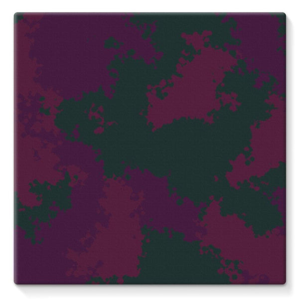 Violet Camo Pattern Stretched Eco-Canvas 10X10 Wall Decor