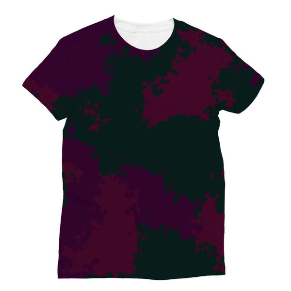Violet Camo Pattern Sublimation T-Shirt Xs Apparel