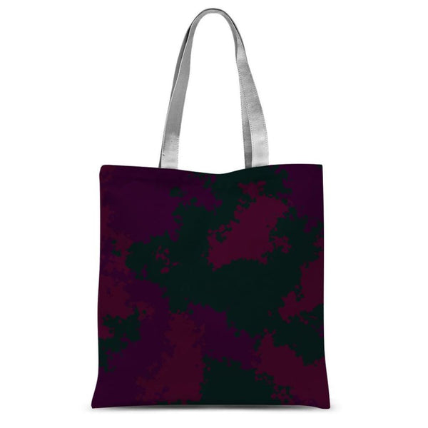 Violet Camo Pattern Sublimation Tote Bag 15X16.5 Accessories