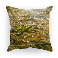 Water Droplets In The Straw Cushion Canvas / 12X12 Homeware