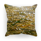 Water Droplets In The Straw Cushion Faux Suede / 18X18 Homeware