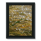 Water Droplets In The Straw Framed Eco-Canvas 18X24 Wall Decor