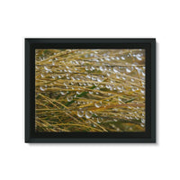 Water Droplets In The Straw Framed Eco-Canvas 24X18 Wall Decor