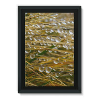 Water Droplets In The Straw Framed Eco-Canvas 24X36 Wall Decor