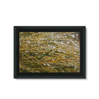 Water Droplets In The Straw Framed Eco-Canvas 36X24 Wall Decor