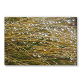 Water Droplets In The Straw Stretched Eco-Canvas 36X24 Wall Decor