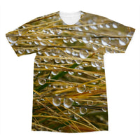 Water Droplets In The Straw Sublimation T-Shirt Xs Apparel
