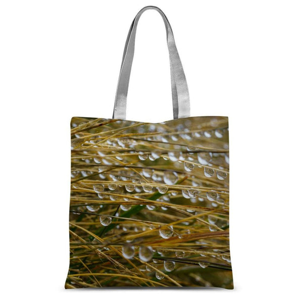 Water Droplets In The Straw Sublimation Tote Bag 15X16.5 Accessories