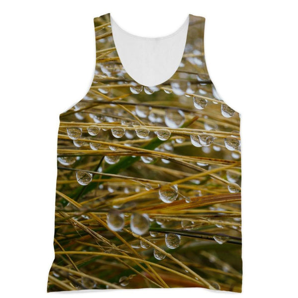 Water Droplets In The Straw Sublimation Vest Xs Apparel