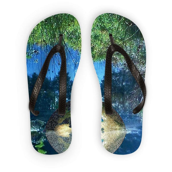 Water Pond Covered Flip Flops S Accessories
