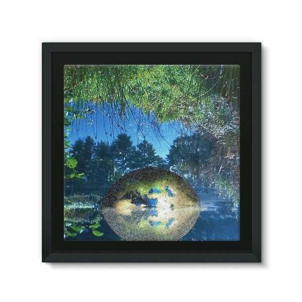 Water Pond Covered Framed Canvas 12X12 Wall Decor
