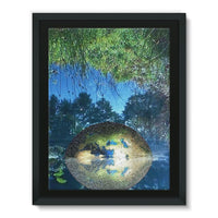 Water Pond Covered Framed Canvas 12X16 Wall Decor