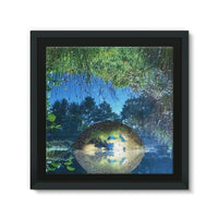Water Pond Covered Framed Canvas 14X14 Wall Decor
