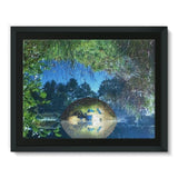 Water Pond Covered Framed Canvas 16X12 Wall Decor