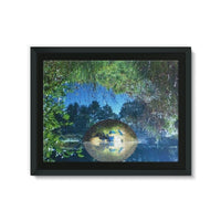 Water Pond Covered Framed Canvas 24X18 Wall Decor