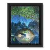Water Pond Covered Framed Canvas 24X32 Wall Decor