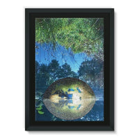 Water Pond Covered Framed Canvas 24X36 Wall Decor