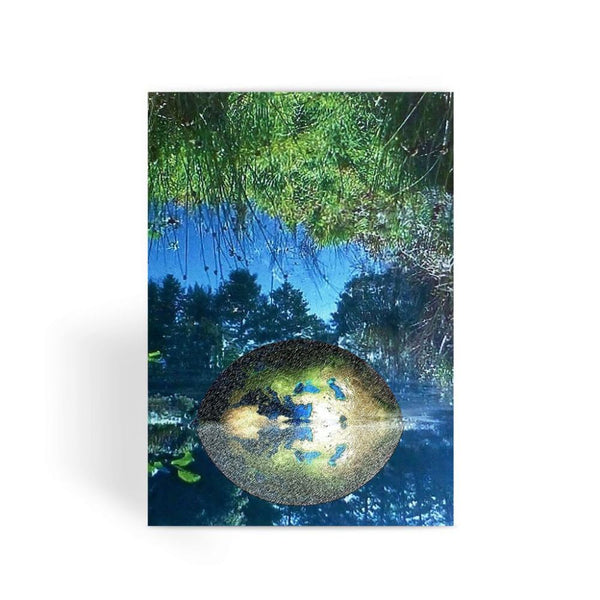 Water Pond Covered Greeting Card 1 Prints